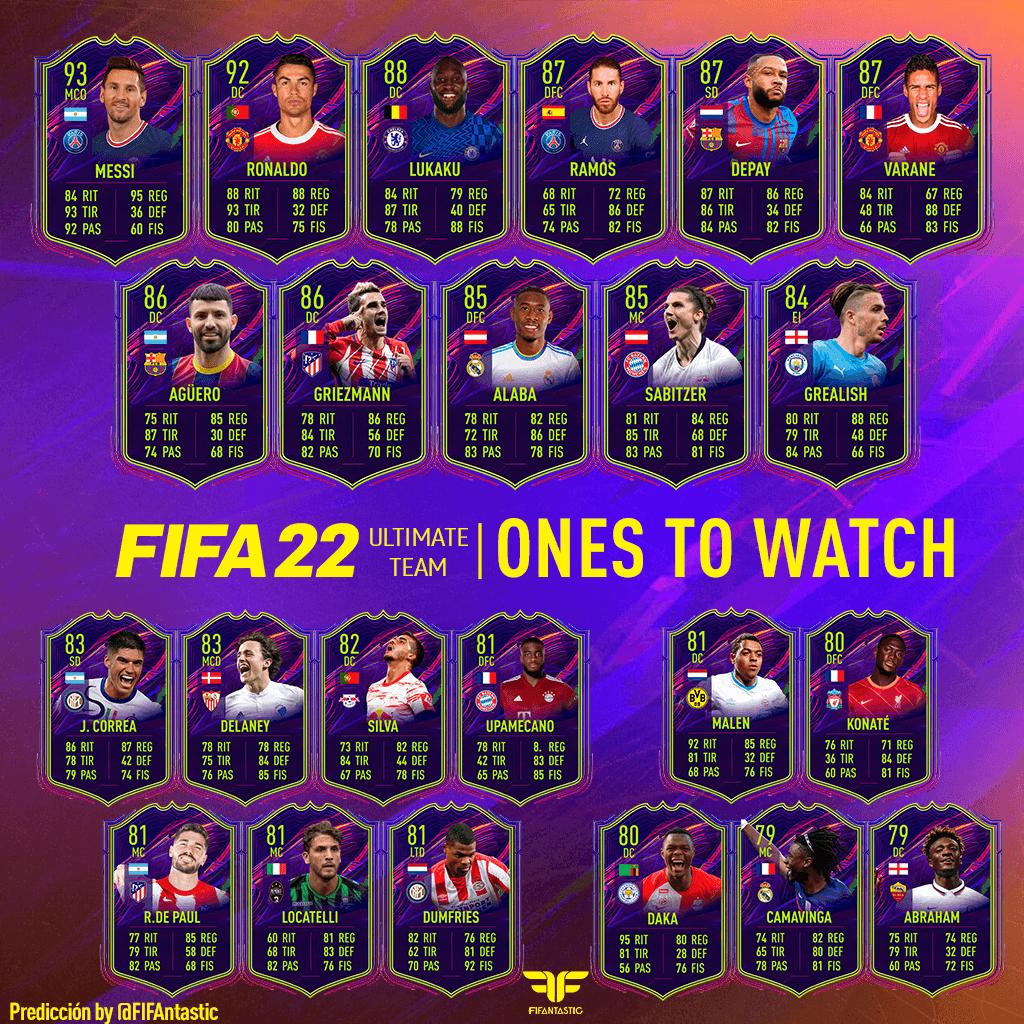 Predicción de los Ones to Watch de FIFA 22 Ultimate Team