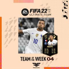 FIFA 22. Predicción del Team of the Week #04