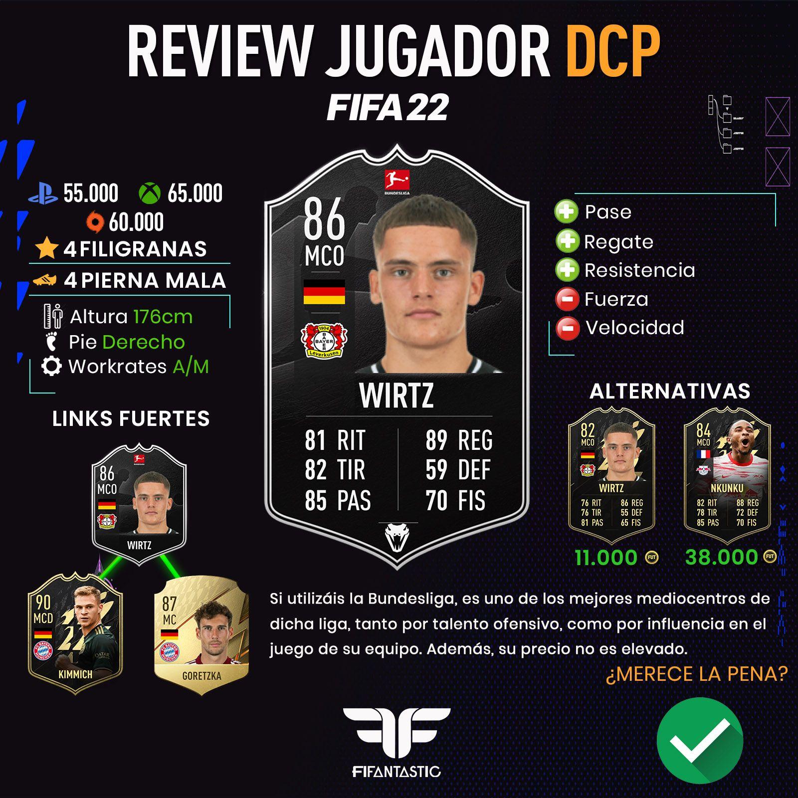 Wirtz POTM en FIFA 22 Ultimate Team